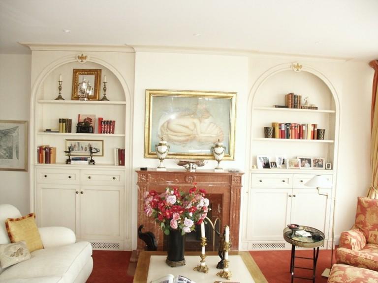 wohnwand mit verstecktem fernseher m belwerkstatt hamkens. Black Bedroom Furniture Sets. Home Design Ideas